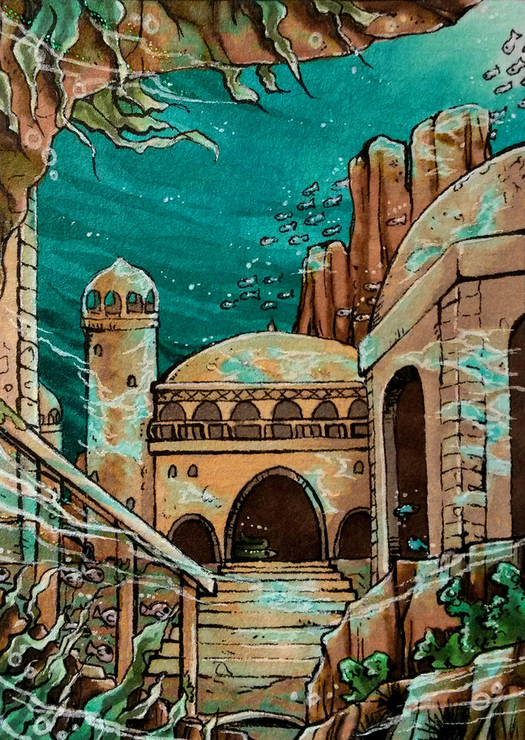 ACEO #83: Atlantis by Toto-the-cat