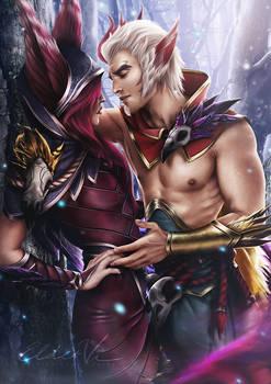 League of Legends - Xayah x Rakan