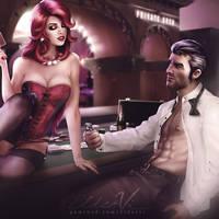 LoL Miss Fortune and Jayce - Strip Poker by Eldervi
