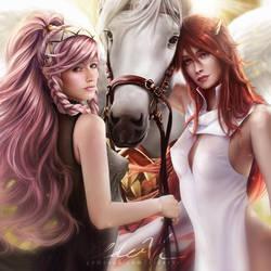 Olivia x Cordelia NSFW