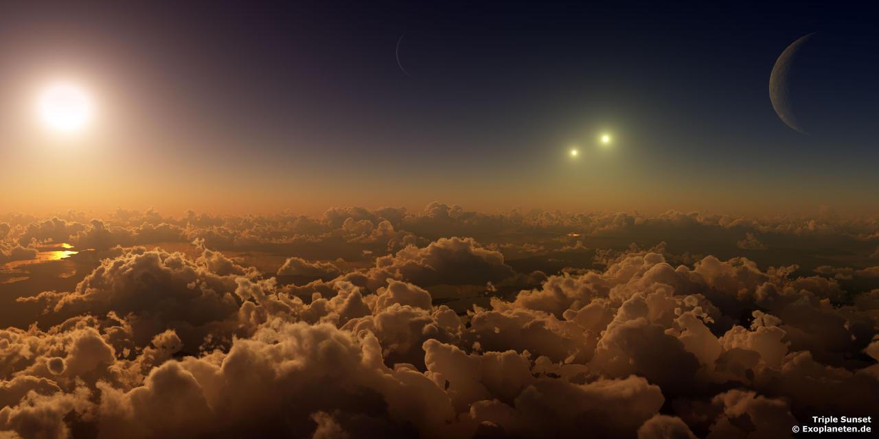 Dreifacher Sonnenuntergang - Triple Sunset