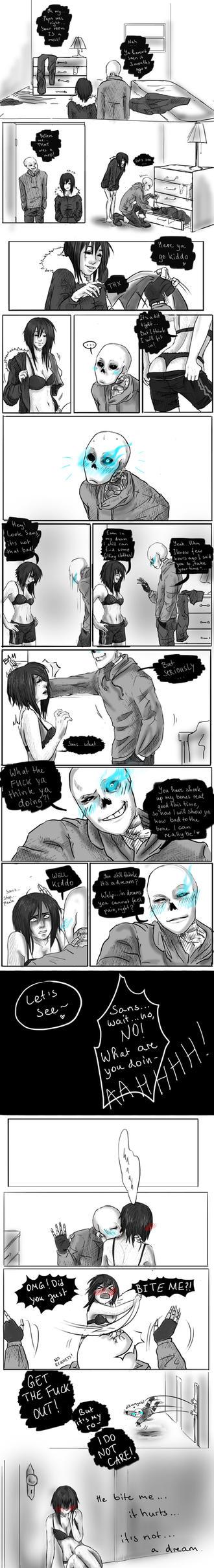 Page 8 (Bonely) Sans x Frisk by KuuhMuuh