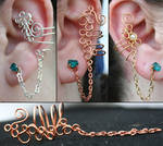 Chained Ear Cuffs