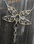 Silver Filigree Dragonfly