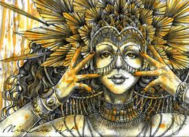 Sun Goddess by MiaLaia