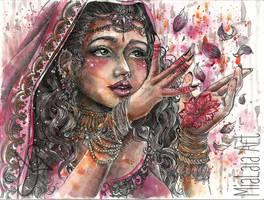Goddess Lakshmi by MiaLaia