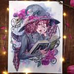 Dark Arts Watercolor painting