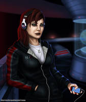 Mass Effect 3 Femshep Casual by DwarfVader23