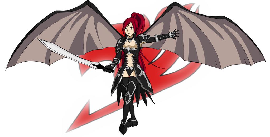 Erza Scarlet Black Wing Armor by saxonnaniErza Scarlet Black Wing Armor Cosplay