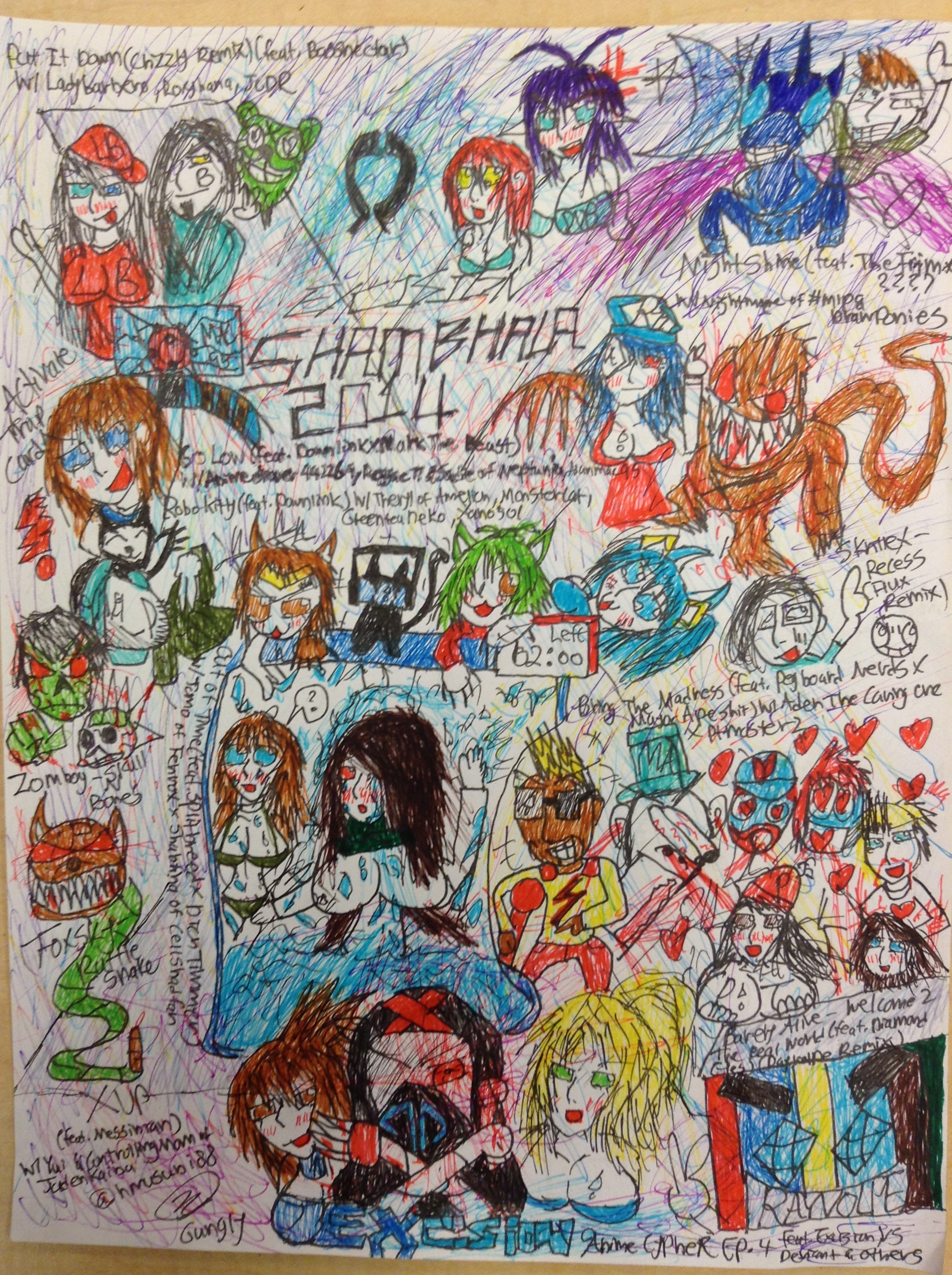 Anime Cypher 4 Shambhala 2014 Excision By Gungly On