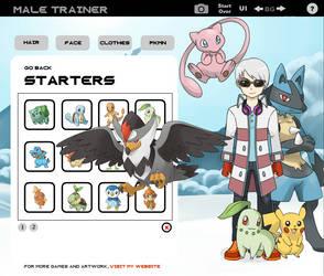 Pokemon Trainer Creator -  Sniver-K OC by gungly
