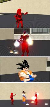 Kaio-Ken Yang VS. Electrified Kaio-Ken A.I.M