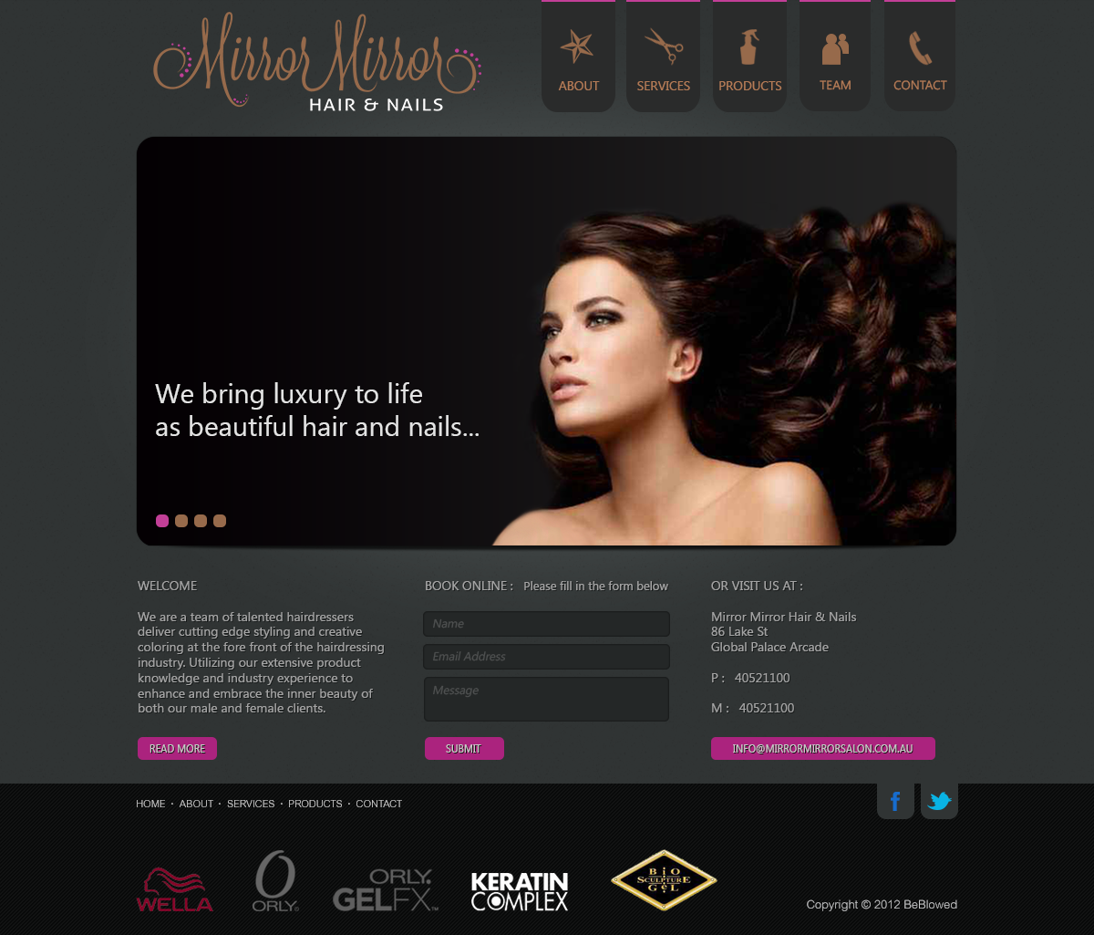 Mirror Mirror Hair and Nails Web Design by samadarag