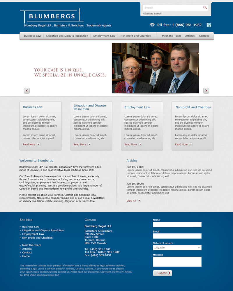 Web design for a law firm by samadarag