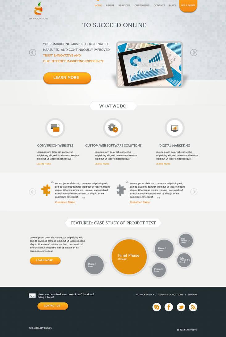 Web design for a digital agency by samadarag