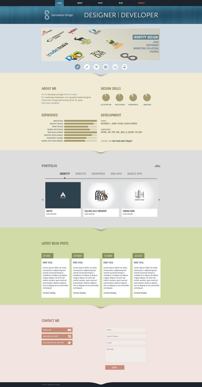 One Page Portfolio by samadarag