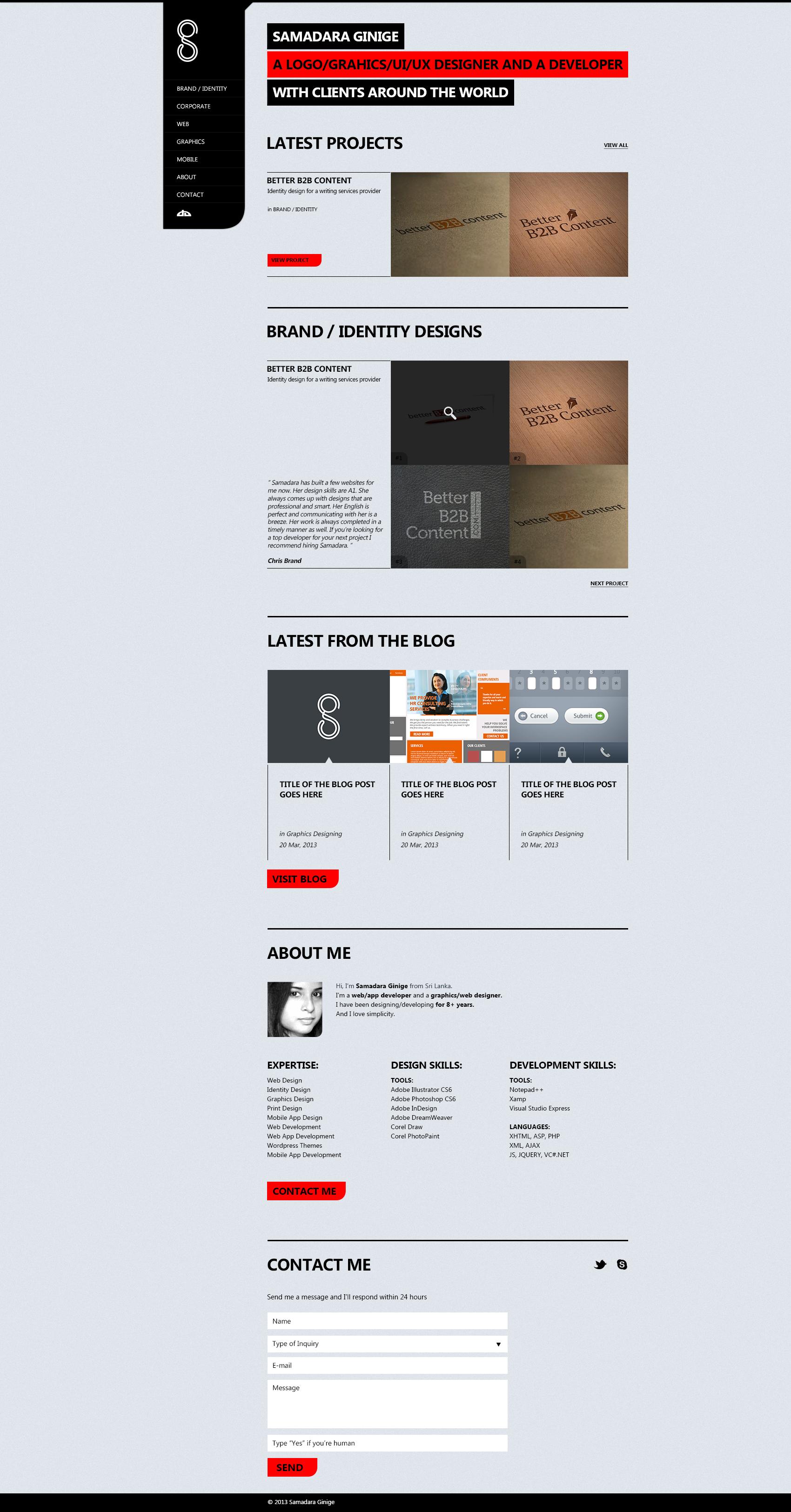 Personal Website by samadarag