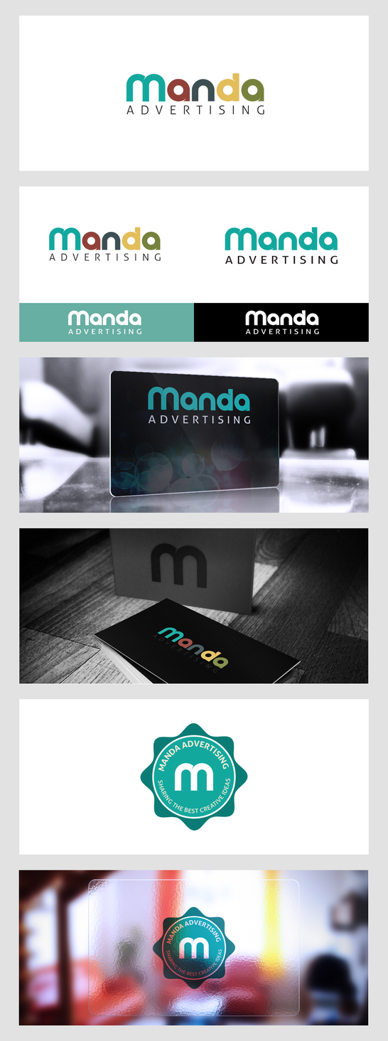 Manda Advertising Logo Design by samadarag
