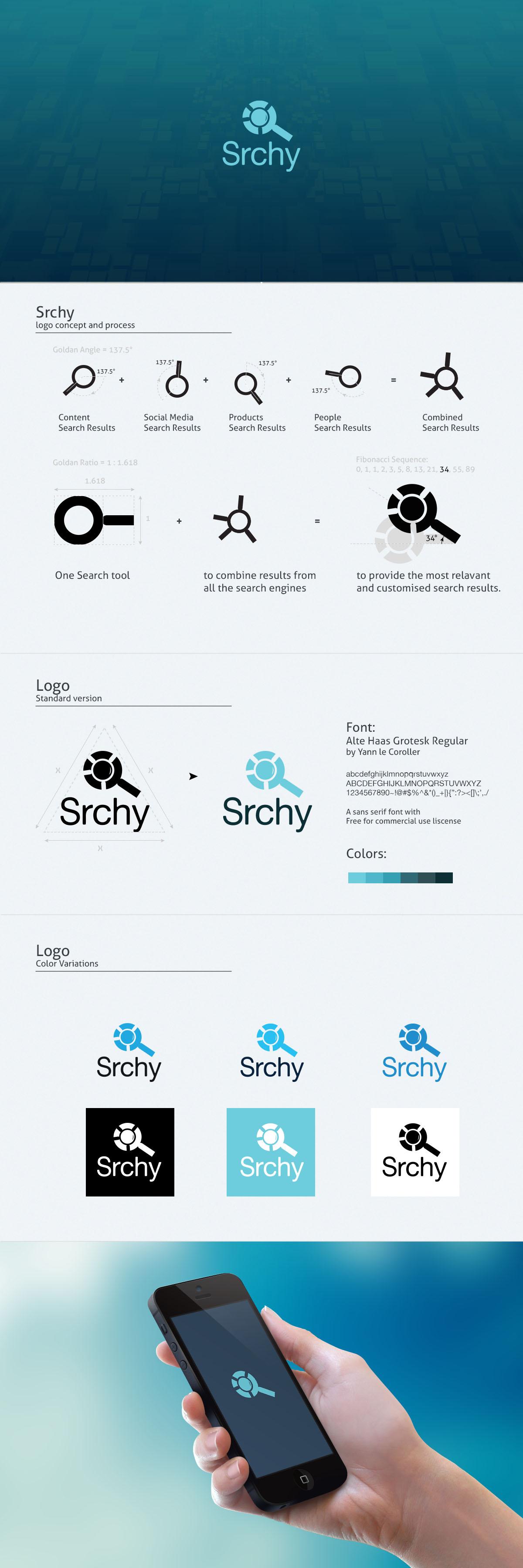 Srchy Logo Design Process by samadarag