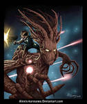 Guardians of the Galaxy Rocket Racoon and Groot