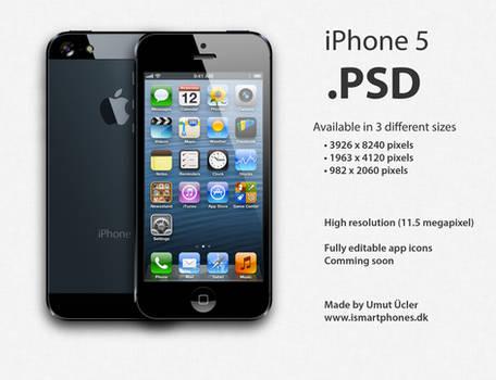 Apple iPhone 5 .PSD