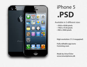 Apple iPhone 5 .PSD