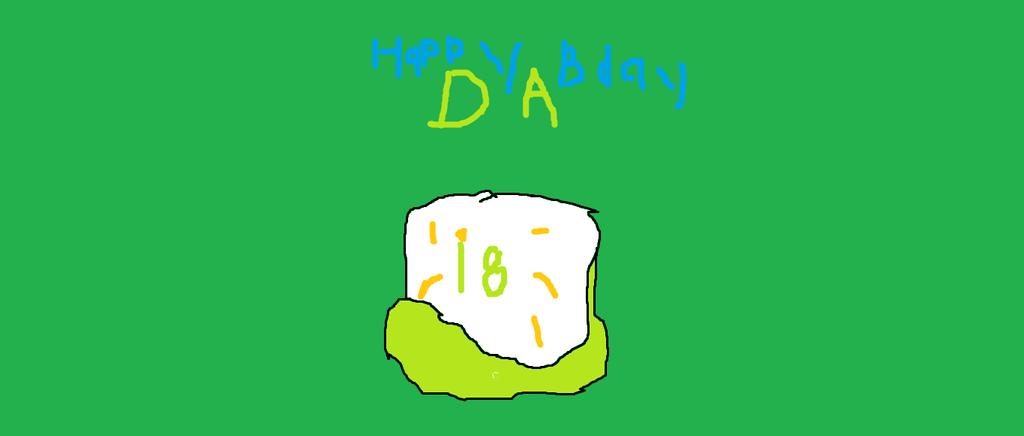 DA's BirthDay Cake! by hubworld23