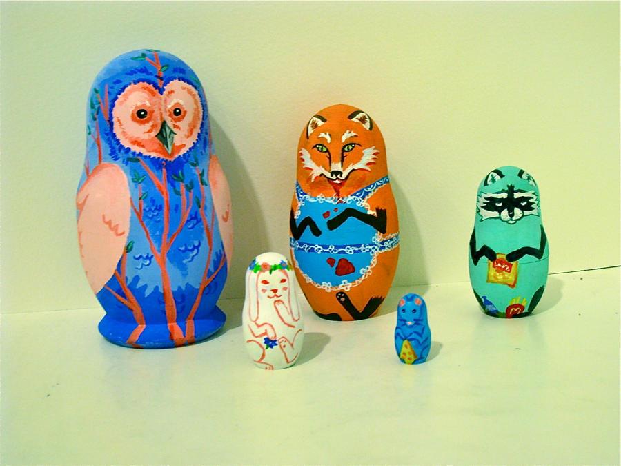 Russian Nesting Dolls-Animals by Daaakota