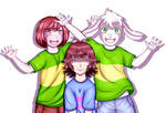 Undertale - Frisk, Chara and Asriel