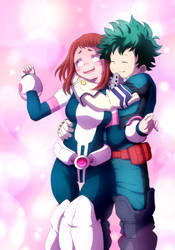 Deku e Uravity by GabrielPMN1