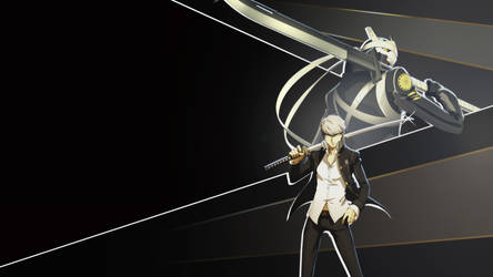 Yu Narukami and Izanagi Wallpaper 1080p by blubxer