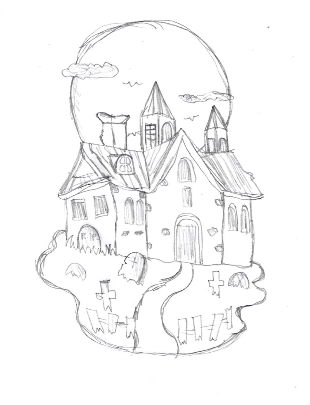 Haunted House Sketch By DrawingManuals On DeviantArt