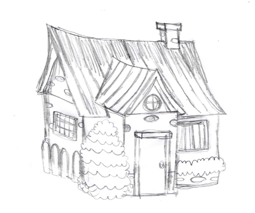 House Sketch By Drawingmanuals On Deviantart