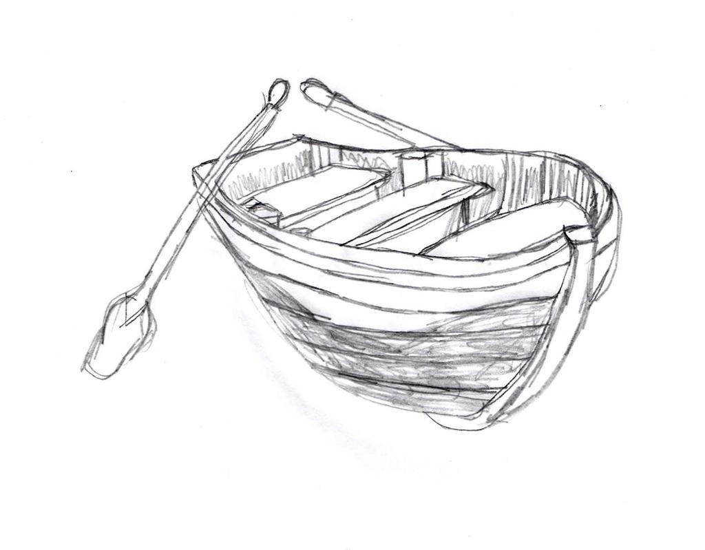 Wooden Boat Sketch by DrawingManuals on DeviantArt
