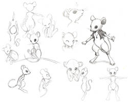 Mouse Character studies by Maileigh