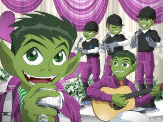 Teen Titans - Beast Boy Hey Ya by jodi-seer