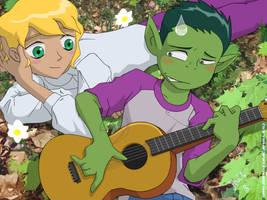 Teen Titans - Guitar Hero by jodi-seer