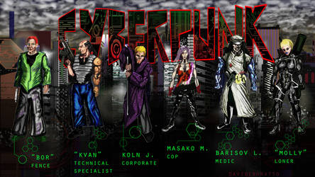 cyberpunk characters all