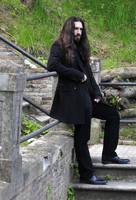 gothic Elegant man pose by deswitath
