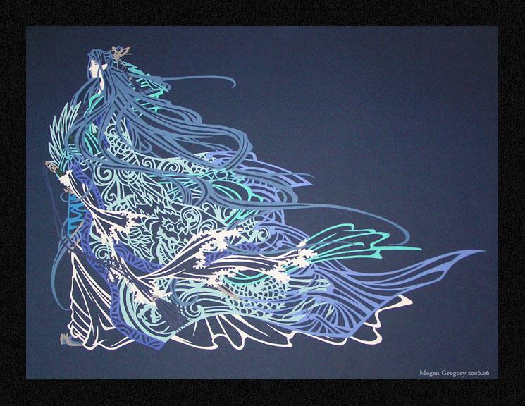 Sohryuu paper cut-out by SnBMeg
