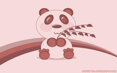 Pink Panda Vector