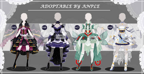 Outfits [CLOSED] Auction 045 - 048 by AppleOR
