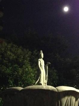 KANNON BOSATSU and full moon