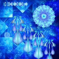 kaleidoscope, cornflower