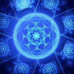 kaleidoscope, blue