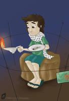 Life In Gaza by SamiShahin-Art