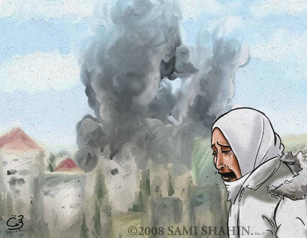 Weeping Gaza by SamiShahin-Art