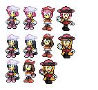 Female Sonic Pokemon Callaboration Sprites by luigiandtravon