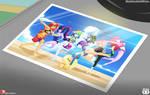 Summer Beach Equestria girls photo