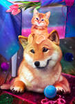 Cat and Dog by Stella579